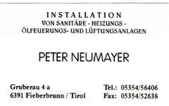 Installationen Peter Neumayer
