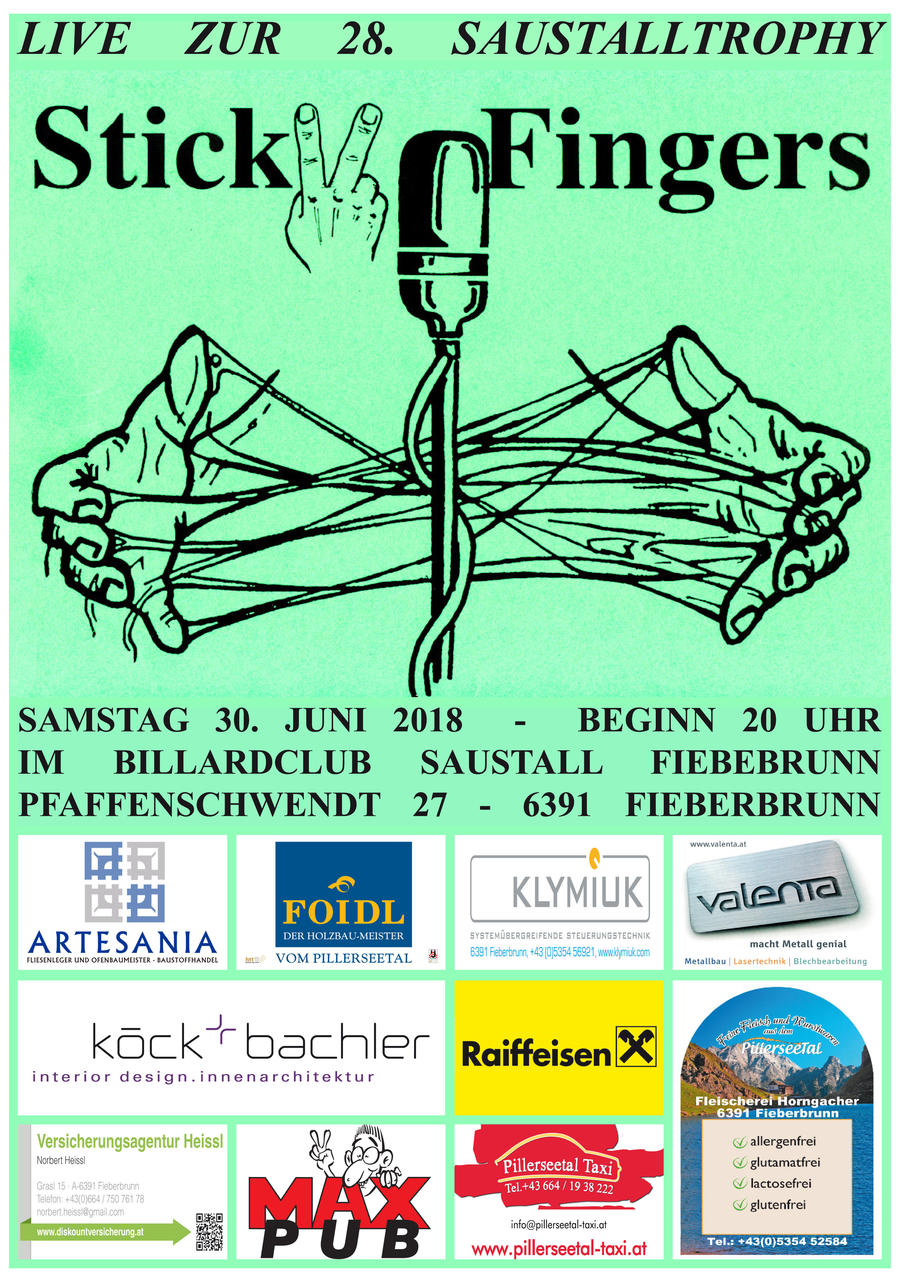 Sticky Fingers bei Saustalltrophy 2018